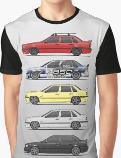 Stack of Volvo 850R 854R T5 Turbo Saloon Sedans Graphic T-Shirt