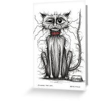 Stinker the cat Greeting Card
