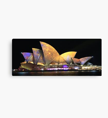 Sydney and the Vivid Festival Canvas Print