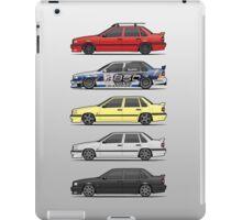 Stack of Volvo 850R 854R T5 Turbo Saloon Sedans iPad Case/Skin