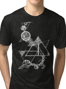 Time and space (white design) Tri-blend T-Shirt
