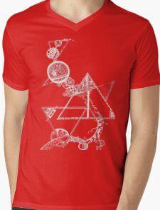 Time and space (white design) Mens V-Neck T-Shirt