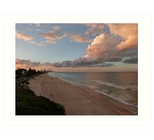 Gorgeous Gold Coast Sunset Art Print