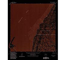 USGS TOPO Map Alaska AK Black A-2 354603 1952 63360 Inverted Photographic Print