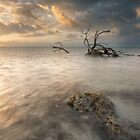Sun and Storm at Anne's Beach by PeaceInArt