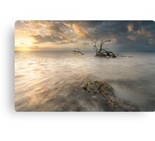 Sun and Storm at Anne's Beach Canvas Print
