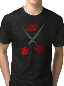 Retro Punk Restyling  Black flag cut Tri-blend T-Shirt