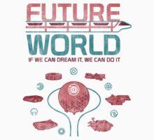 Future World Map Kids Tee