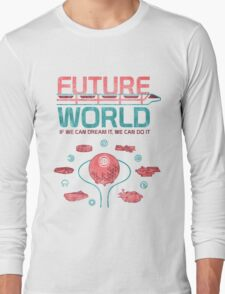 Future World Map Long Sleeve T-Shirt
