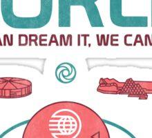 Future World Map Sticker