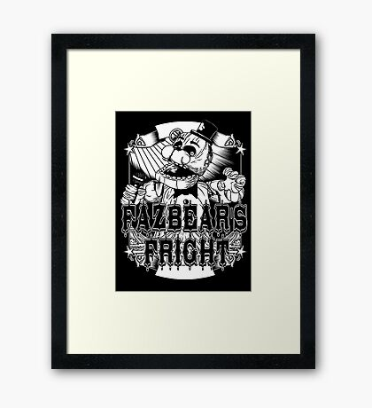 Fazbear's Fright Five Nights FNAF Freddy's Horror Video Game Framed Print