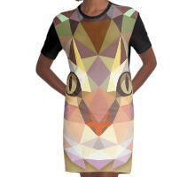 Graphic Cat Graphic T-Shirt Dress