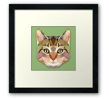 Graphic Cat Framed Print