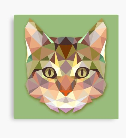 Graphic Cat Canvas Print