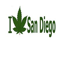 I Love San Diego by Ganjastan