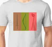 Sword, Bow, Ax Unisex T-Shirt