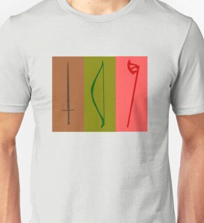 Sword, Bow, Ax Unisex T-Shirt