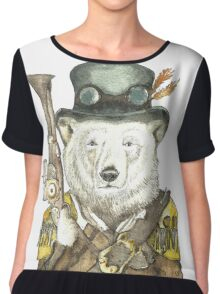 Polar Bear Warden Chiffon Top