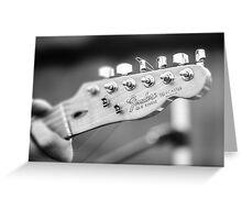 Fender Telecaster Monochrome - Detail Greeting Card