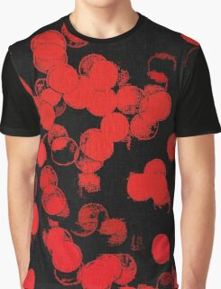 Red Bubbles Pattern Graphic T-Shirt