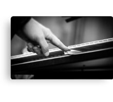 Music in black and white Canvas Print