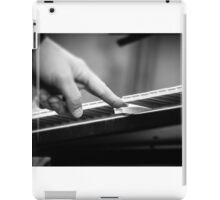 Music in black and white iPad Case/Skin