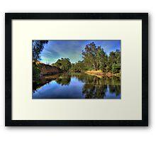 Ovens River, Wangaratta, Victoria, Australia. Framed Print