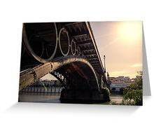 Seville - the Triana bridge Greeting Card