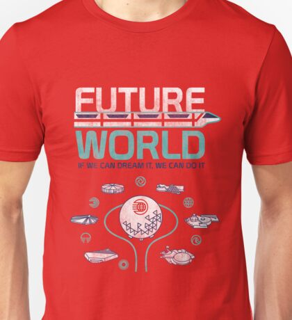 Vintage EPCOT Center Future World Map Unisex T-Shirt