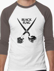 Retro Punk Restyling   - Black Flag scissors Men's Baseball ¾ T-Shirt