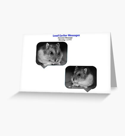 Hamster Message Greeting Card