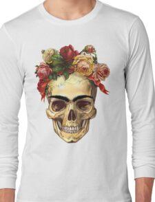 Frida Kahlo Skull Long Sleeve T-Shirt