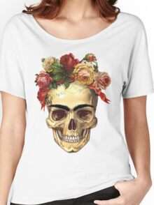 Frida Kahlo Skull Women's Relaxed Fit T-Shirt