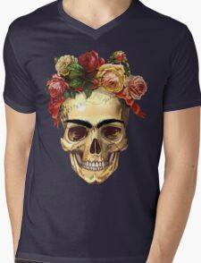 Frida Kahlo Skull Mens V-Neck T-Shirt