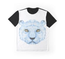 Watercolour White Tiger Graphic T-Shirt