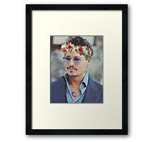Johnny Flower Depp Framed Print