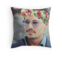 Johnny Flower Depp Throw Pillow
