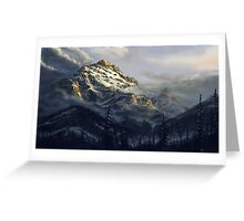 The Dying Mountain Greeting Card
