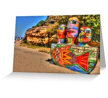 Colourful Sculpture by the Sea Greeting Card