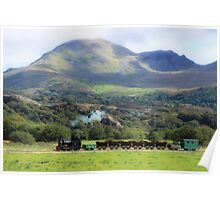 Country Freight Train Poster