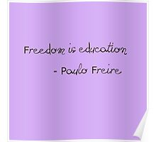 Paulo Freire Poster