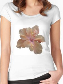 Peach Hibiscus Women's Fitted Scoop T-Shirt