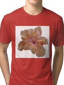 Peach Hibiscus Tri-blend T-Shirt