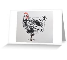 Black Chicken Greeting Card