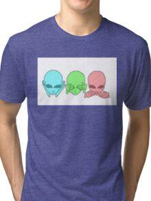 Hear no. See no. Speak no. Tri-blend T-Shirt