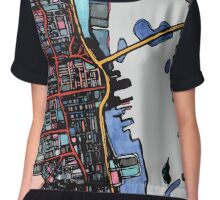 Abstract Map of New Bedford Chiffon Top