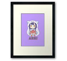 Ahri chibi Framed Print