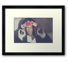 El Mariachi Antonio Banderas Flower Crown Framed Print