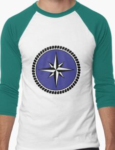 Nautical round north south east west dial Men's Baseball ¾ T-Shirt