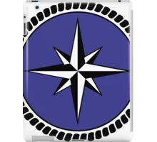 Nautical round north south east west dial iPad Case/Skin